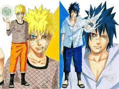 Sasuke and Naruto Anime Naruto, Naruto Vs Sasuke, Madara Uchiha, Manga Anime, Naruto Shippuden Anime, Sakura And Sasuke, Naruto Art, Manga Art, Naruto Drawings