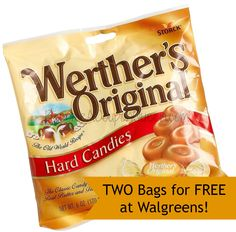 2 FREE Werther's Originals Bags at Walgreens! BecomeACouponQueen.com