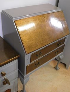 This vintage mahogany bureau dates from around the 1950's.It has undergone a complete upgrade in our Cockington…