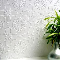 Alexander (RD0647) - Anaglypta Wallpapers - A deeply textured wallcovering with a tough surface suitable for high traffic areas. Large scale embossed floral design. Please ask for sample for true texture match.