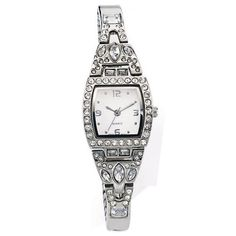 Embellished Cuff Watch with Expansion Band