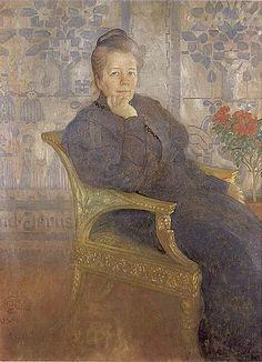 """""""Selma Lagerlöf"""" by Carl Larsson (1853-1919) Swedish Painter & Interior Designer. Zoek al jaren naar haar boek over Nils in t zweeds."""