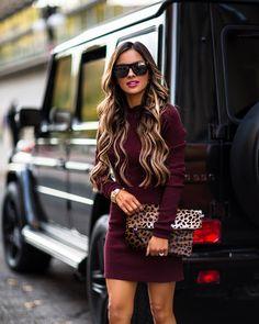 a78721c3269 mia mia mine wearing a burgundy thermal dress from intermix Fall Fashion  2016