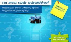 Serdecznie zapraszamy do uczestnictwa w naszym nowym konkursie: https://www.facebook.com/MapaProjektowLodzkiego/app_822601121093563 Sprawdź się, jak znasz województwo łódzkie. Odgadnij jako pierwszy, jakie zdjęcie ukryliśmy pod puzzlami i wygraj nagrody.