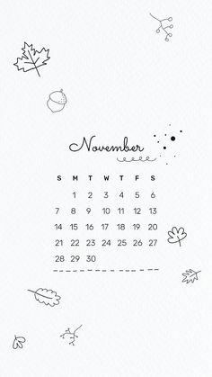 Cool Calendars, Cute Calendar, Calendar Stickers, November Calender, 2021 Calendar, Calendar Wallpaper, Mobile Wallpaper, Calendar Doodles, Cute Doodles Drawings