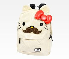 idk why, but i kinda want it ... Hello Kitty Backpack: Mustache | get it for cheaper on amzon ... http://www.amazon.com/Hello-Kitty-SANBK0053-Backpack-White/dp/B0083X60PA