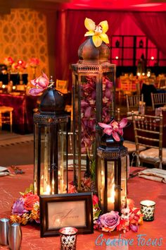 Moroccan themed Bat Mitzvah  Photo by Jay Guttveg of Creative Focus.  Just add a few orchids, change the height of the lanterns and voila, Asian theme!