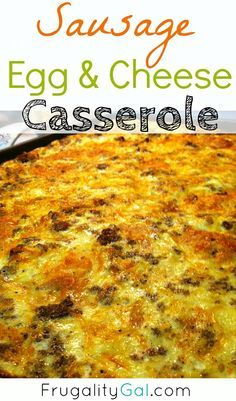 Bubbly, cheesy and fluffy sausage, egg and cheese casserole. Easy breakfast casserole recipe for Christmas morning or to feed a crowd!