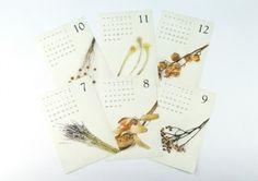 2016 BOTANICAL CALENDAR dryflower driedflower ドライフラワー ボタニカル FLEURI blog