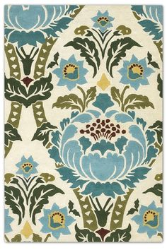 Chandra Rugs Amy Butler Coventry Rug x Textiles, Textile Prints, Print Fabrics, Floral Rug, Floral Motif, Stencil, Amy Butler Fabric, Curtain Patterns, Burke Decor
