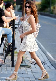 Look at my left foot: Penelope Cruz once again proved she has beautiful trotters as she stepped out in New York on Thursday