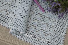 Tutorial copertina in cotone con rombi e pippiolini. Occorrente: 500 gr di cotone filo di Scozia numero 5, un uncinetto numero 2,50 Baby Afghans, Baby Blanket Crochet, Crochet Baby, Crochet Designs, Crochet Patterns, Pink Crib, Manta Crochet, Stitch Markers, Crochet For Kids