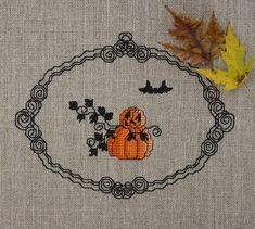 Happy Pumpkinmen Cross Stitch Pattern