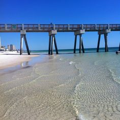 Crystal clear water in Panama City Beach, FL!