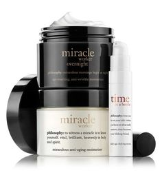 miracle worker | day night duo | philosophy moisturizers