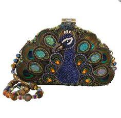 mary frances 1920's style show off peacock handbag