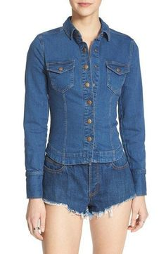 Now available: Free People Rogue... Be the first to see it!: http://www.swankybazaar.com/products/free-people-rogue-slim-denim-shirt-jacket-in-hendrix-blue-size-m?utm_campaign=social_autopilot&utm_source=pin&utm_medium=pin
