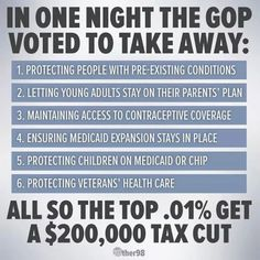 This is what happens when you vote GOP. Veterans Health Care, Political Views, Political Satire, Republican Party, Gop Party, Republican Senators, Stupid People, Thought Provoking, Let It Be
