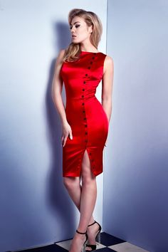 Irma La Douce Dress in Red