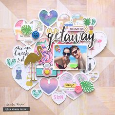Summer scrapbook layour created with @crate_paper Oasis collection by @floramfarkas . #cratepaper #cpoasis
