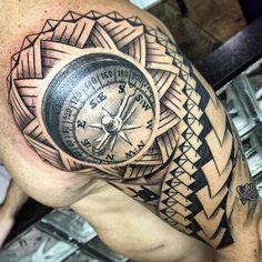#tempo #tattoo #work #arte #art #inked #iphone6 #riodejaneiro #ink #diversão #tribal #foto #trabalho #tattoos #tatuagem #tattooart #tattoo #black #bússola #blackart #boanoite #noite #nigth #3D #real #reality #tattooreal
