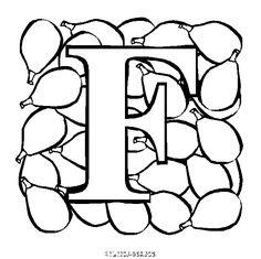 Coloriage Lettres A Colorier Alphabet Fruit Gratuit