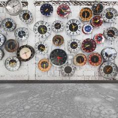 interior decorating: Retro klokken aan de muur