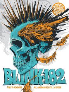 Blink-182 Concert Poster by Ken Taylor