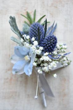 22 Classic Blue Wedding Flowers At Your Wedding Prom Flowers, Blue Wedding Flowers, Flower Bouquet Wedding, Floral Wedding, Wedding Colors, Flower Bouquets, Blue Wedding Bouquets, Wedding Blue, Bridal Bouquets