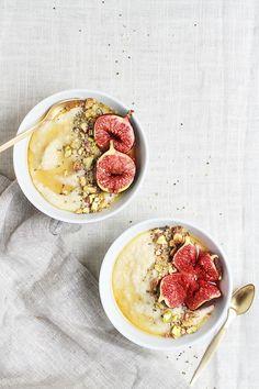 roasted fig + honey millet porridge.
