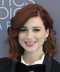 Aya Cash's Shoulder Length Wavy Bob. Try on this hairstyle and view styling steps! http://www.thehairstyler.com/hairstyles/casual/medium/wavy/aya-cash