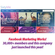 It's not just the tech savvy, or mobile crazed youth tapping into Facebook. Check out how the company Sixty and Me, an online community for women 60+ now captures 37% of all it's organic traffic from Facebook marketing! Check it out https://www.facebook.com/facebookforbusiness/news/Sixty-and-Me #facebookmarketing