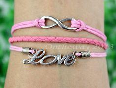 Infinity braceletLove braceletKarma braceletCustom by ontheway2013, $3.99