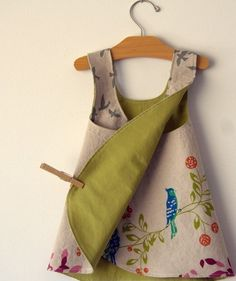 Birdsong Reversible Modern Pinafore Dress by Noah by noahandlilah