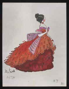 Costume designs by Cecil Beaton for the Metropolitan Opera's 1966 production of Verdi's La traviata Beautiful Costumes, Amazing Costumes, Rendering Techniques, Abandoned Amusement Parks, Cecil Beaton, Metropolitan Opera, Theatre Costumes, Fantasy Costumes, Print Pictures
