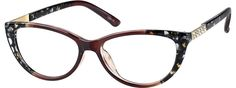 Order online, women brown full rim acetate/plastic cat-eye eyeglass frames model #128415. Visit Zenni Optical today to browse our collection of glasses and sunglasses.