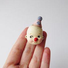 Kewpie Clown Face Pin by DottieDollie