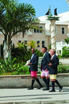Men walking in Bermuda shorts.in Bermuda. Hamilton Bermuda, Bermuda Island, Cruise Port, Island Girl, Beautiful Islands, Beautiful Places, Yesterday And Today, Another World, Home And Away