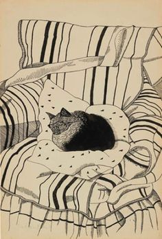 Lucian Freud / The Sleeping Cat