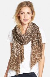 Nordstrom 'Luxe Animal' Challis Scarf