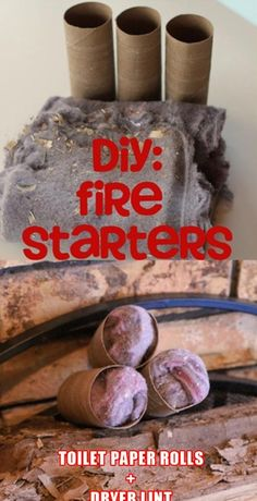 Camping fore starters, simple! Dryer lint and paper towel/ toilet paper tubes. DIY