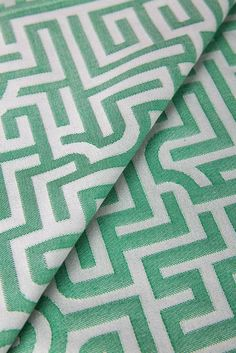 Studio Job, Labyrinth Tea Towel - by TextielMuseum. GrassGreen, 100% organic cotton, Jaquard woven