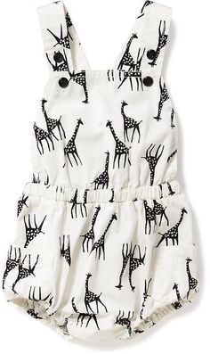I have to get this adorable baby girl romper for Lily! | Giraffe-Print Bubble Romper for Baby $17.97 | #ad