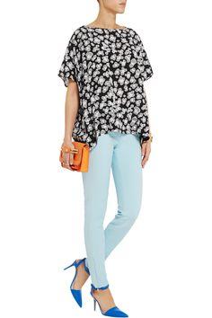 D is for Diane von Furstenberg - New Hanky floral-print silk crepe de chine top #THEOUTNETabc #SeeItShopIt