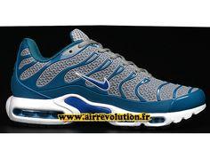 best sneakers 5b4c5 747bf Nike Air Max TnTuned Requin 2016 Chaussures Nike Officiel Pas Cher Pour  Homme BleuGris 1608221126