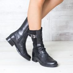 Ghete inalte dama imblanite piele cu siret negre Booty, Casual, Shoes, Fashion, Moda, Swag, Shoes Outlet, Fashion Styles, Shoe