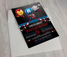 Avengers Birthday Invitations, Superhero Birthday Invitations, Avengers Invitation, Superhero Invitation, Superhero Birthday, Avengers by HomiedayPrintables on Etsy https://www.etsy.com/listing/387370252/avengers-birthday-invitations-superhero