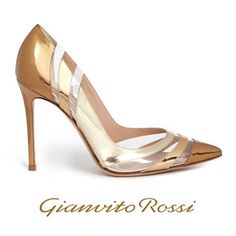 Gianvito Rossi Gold Metallic Pumps - Queen Maxima