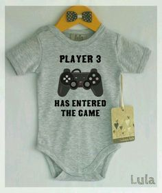 Player 3 has entered the game onesie Funny Baby Clothes, Funny Babies, Cute Babies, Twin Baby Clothes, Babies Clothes, Cool Baby, Baby Outfits, Baby Dresses, Little Babies