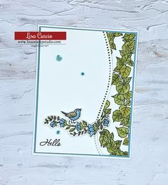 Curved Hello by lisacurcio2001 - at Splitcoaststampers